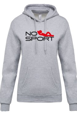 Sweat A capuche « NO SPORT »