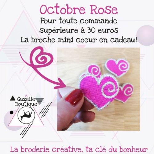 Mini Broche Brodée Coeur