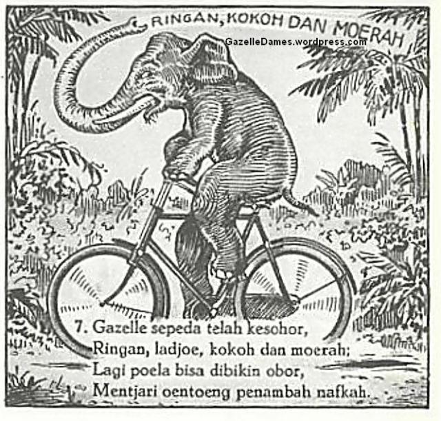 POSTER  IKLAN  Jual Sepeda Onthel Gazelle Seri 1 Dames