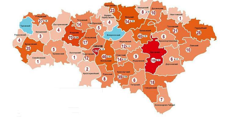 Какие районы Саратовской области устояли перед коронавирусом