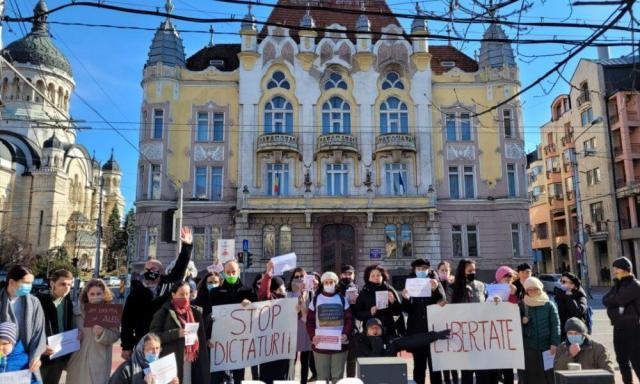 Protest AUR Cluj
