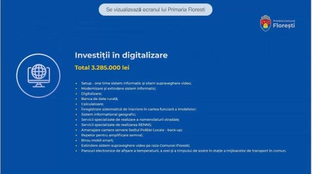 digitalizarea comunei florești