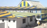 Azul e amarelo do partido ou do município