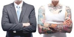 Você contrataria alguém com tatuagem?