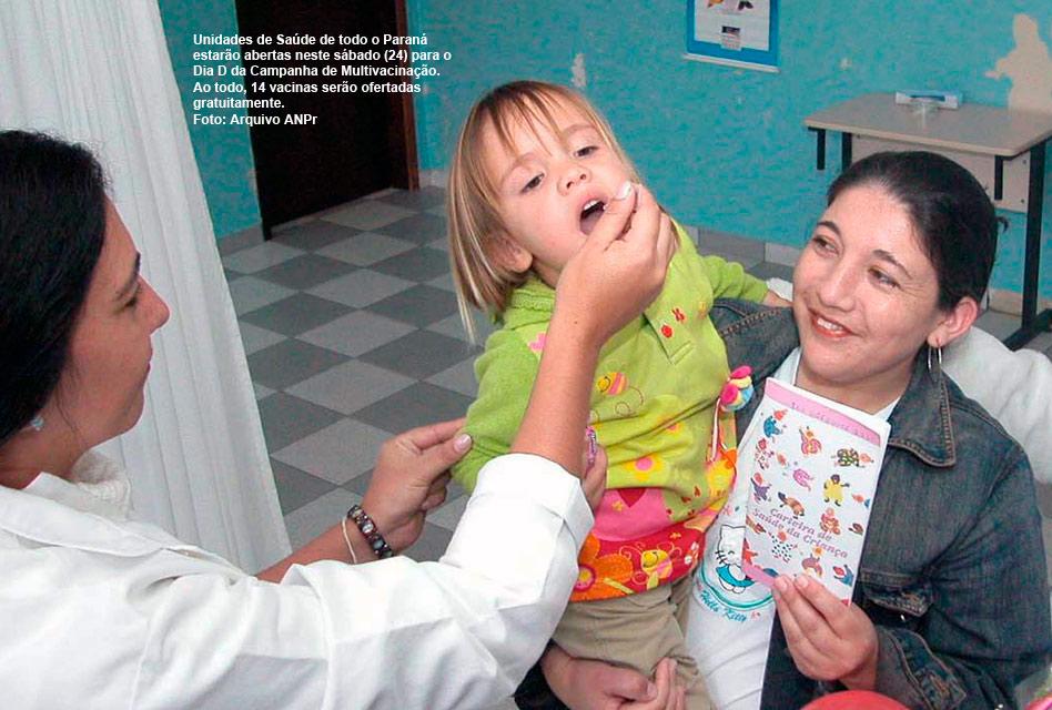 Sábado tem dia D da campanha de multivacinação em todo Estado