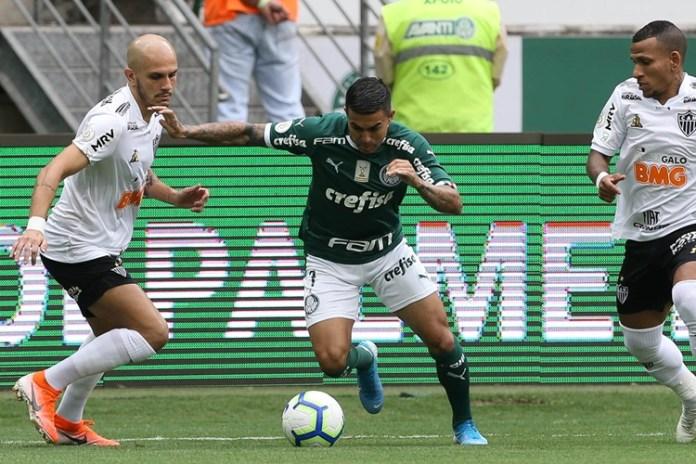 Palmeiras e Atlético-MG ficaram no empate. Foto: Cesar Greco/Agência Palmeiras