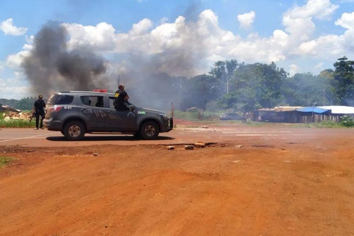 Conflito entre indígenas e seguranças deixa feridos. Foto: Sidnei Bronka/Cedida