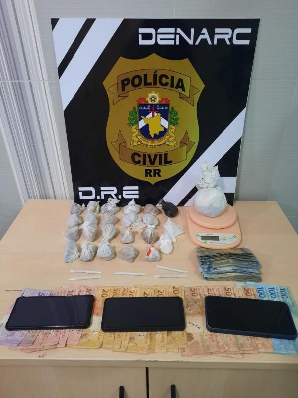 Polícia Civil prende dupla por tráfico e associação para o tráfico de drogas