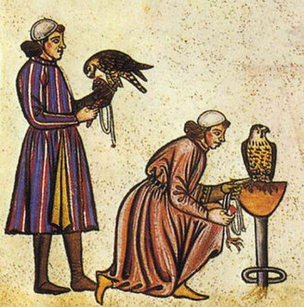 Sokolniki z  z książki Fryderyka II (1240)