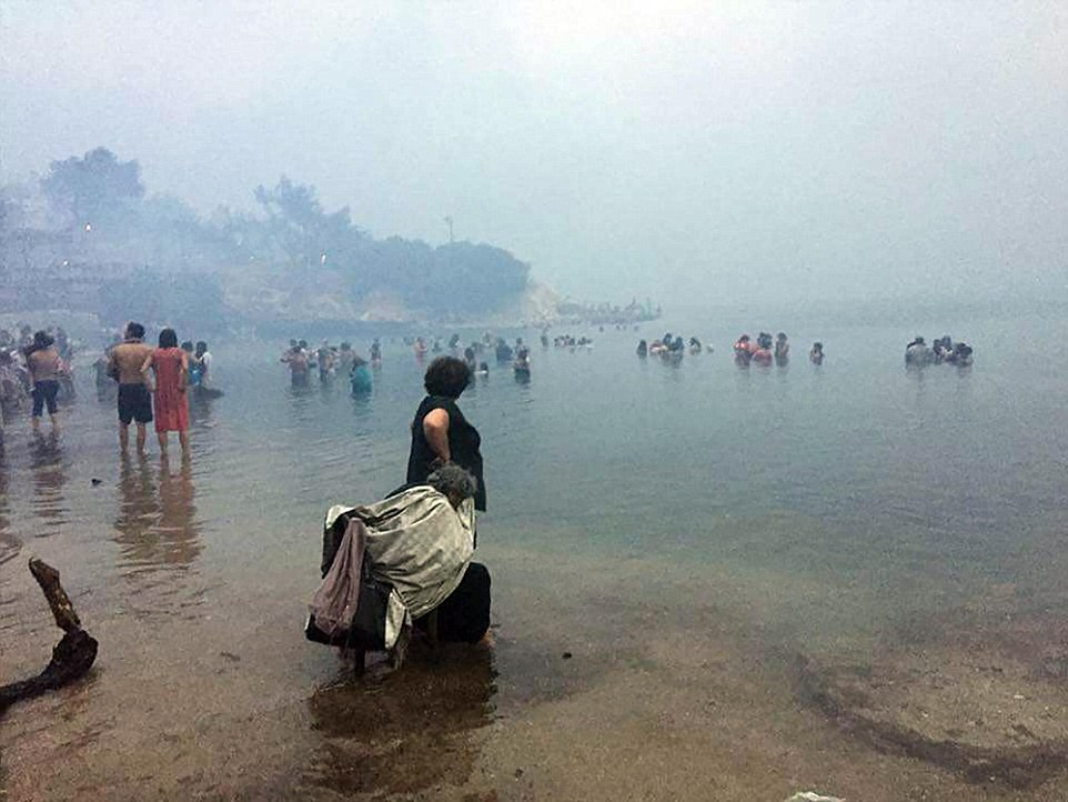 everybody tries to get in the sea to avoid burning 24/7/2018 blitz pictures