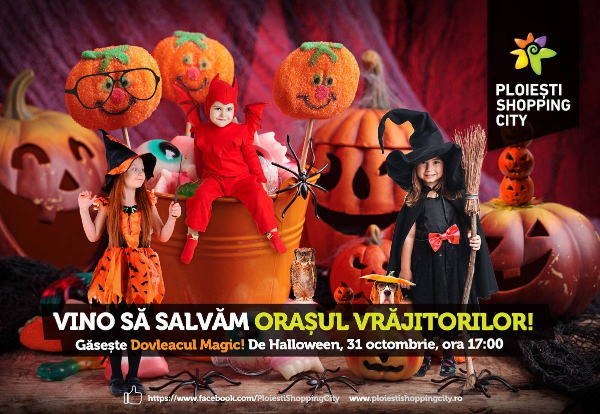 Vrăjitori celebri bântuie mallul Ploiești Shopping City în ziua de Halloween