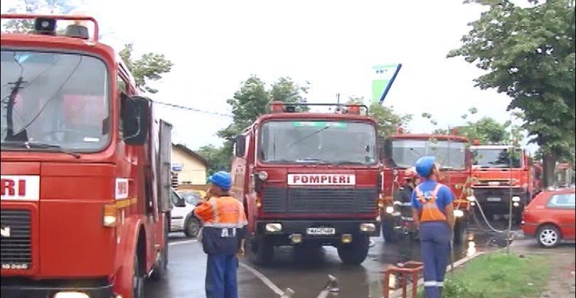 Accident pe DN1. O maşină a luat foc la Nistoreşti