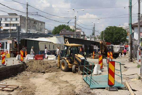Cum se lucrează pe şantierul liniilor de tramvai – GALERIE FOTO