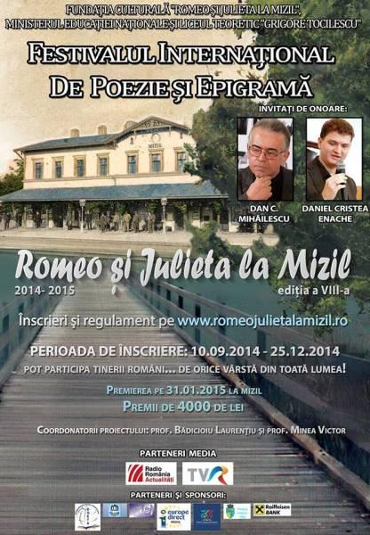 Romeo şi Julieta la Mizil, festival internaţional de poezie şi epigramă