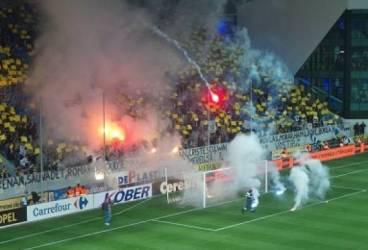 Ce-a păţit suporterul care a aruncat o petardă pe teren la meciul Petrolul – Dinamo