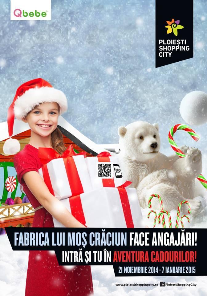 Fabrica lui Moş Crăciun se redeschide în Ploieşti Shopping City
