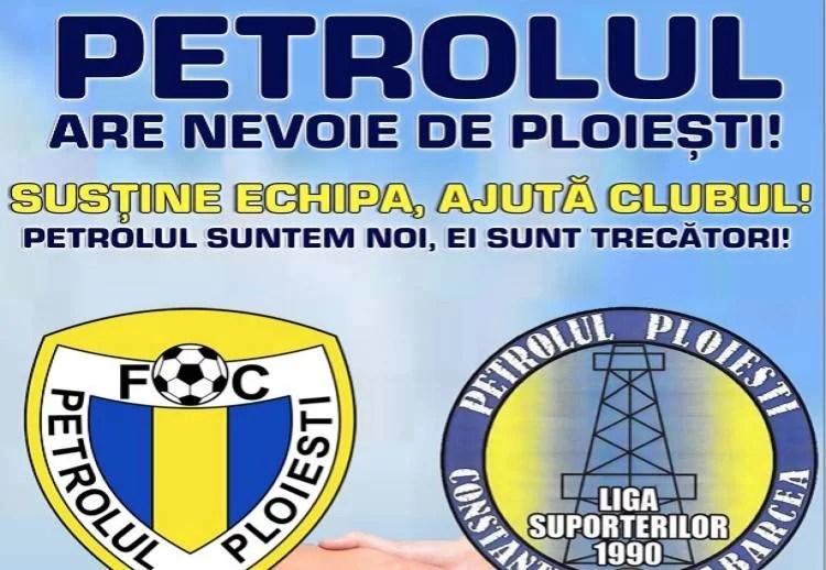 """Ziua marelui miting de salvare a echipei fanion a Ploieștiului: """"Petrolul suntem Noi, ei sunt trecători!"""""""