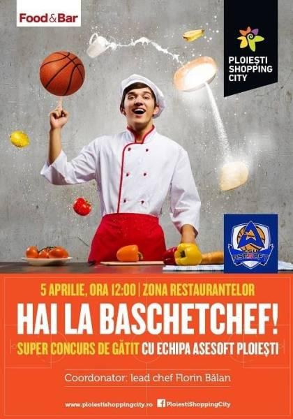 Baschetchef, un cooking show la înălţime şi Easter Sale Weekend sunt vedetele sfârşitului de săptămână la Ploieşti Shopping City