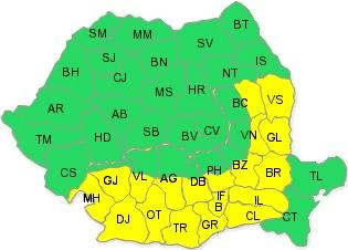 Cod galben de caniculă în Prahova. Urmează grindină, vijelie şi averse de ploaie