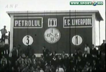 """50-1 ani de la cel mai mare rezultat """"all time"""" al Petrolului: 3-1 cu FC Liverpool. Ce vremuri! Ce trist e acum!"""