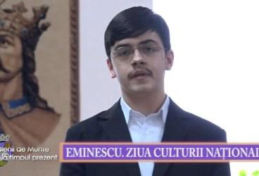Valenii de Munte la timpul prezent 22 ian 2016 Eminescu Ziua Culturii Nationale p 1
