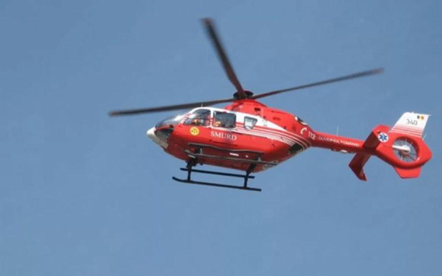 Accident la Bucov, pe DN1B. Un elicopter SMURD a aterizat pentru preluarea victimelor