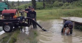 16 localităţi afectate de ploaia torenţială