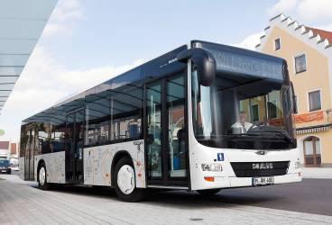 Autobuz MAN nou, pe traseu în Ploieşti