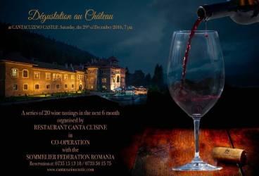 Surprizele continuă la Castelul Cantacuzino, cu a treia degustare de vin