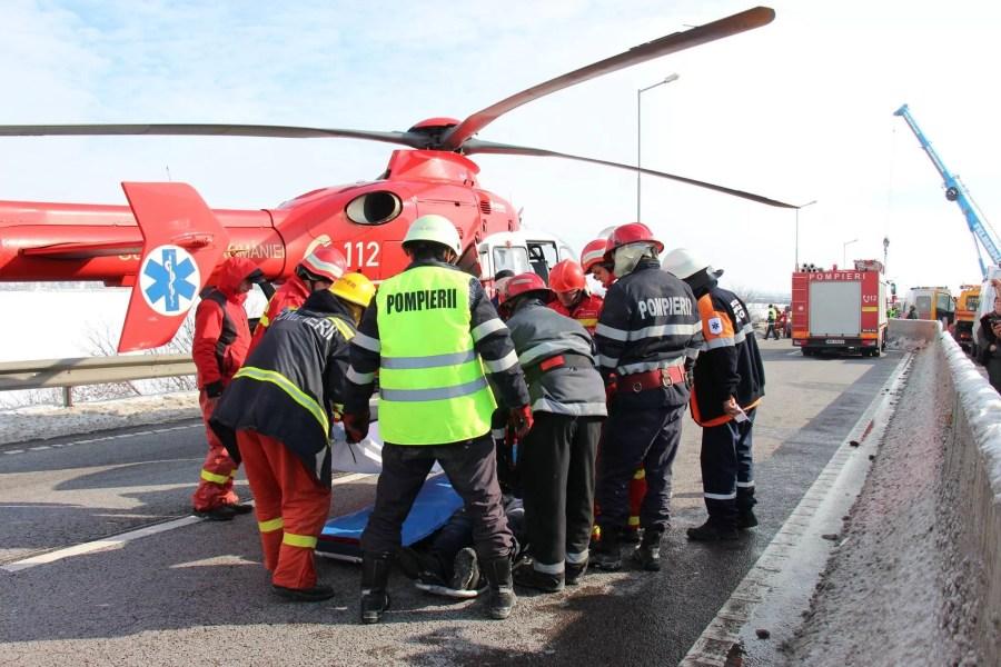 Accident grav pe DN1, la Potigrafu.A fost chemat elicopterul SMURD