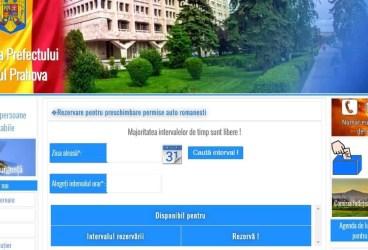 Câţi prahoveni s-au programat online pentru preschimbarea permisului