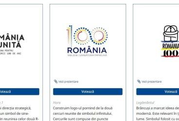 Românii – invitaţi să voteze online logo-ul Centenarului Marii Uniri