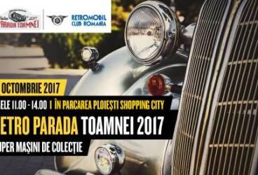 Retro Parada Toamnei aduce peste 50 de masini de colectie la Ploiesti Shopping City