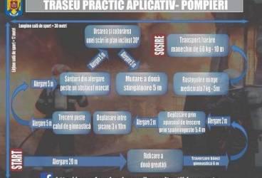 """Cum arată traseul aplicativ pentru admiterea la Şcoala de Pompieri """"Pavel Zăgănescu"""" Boldeşti"""