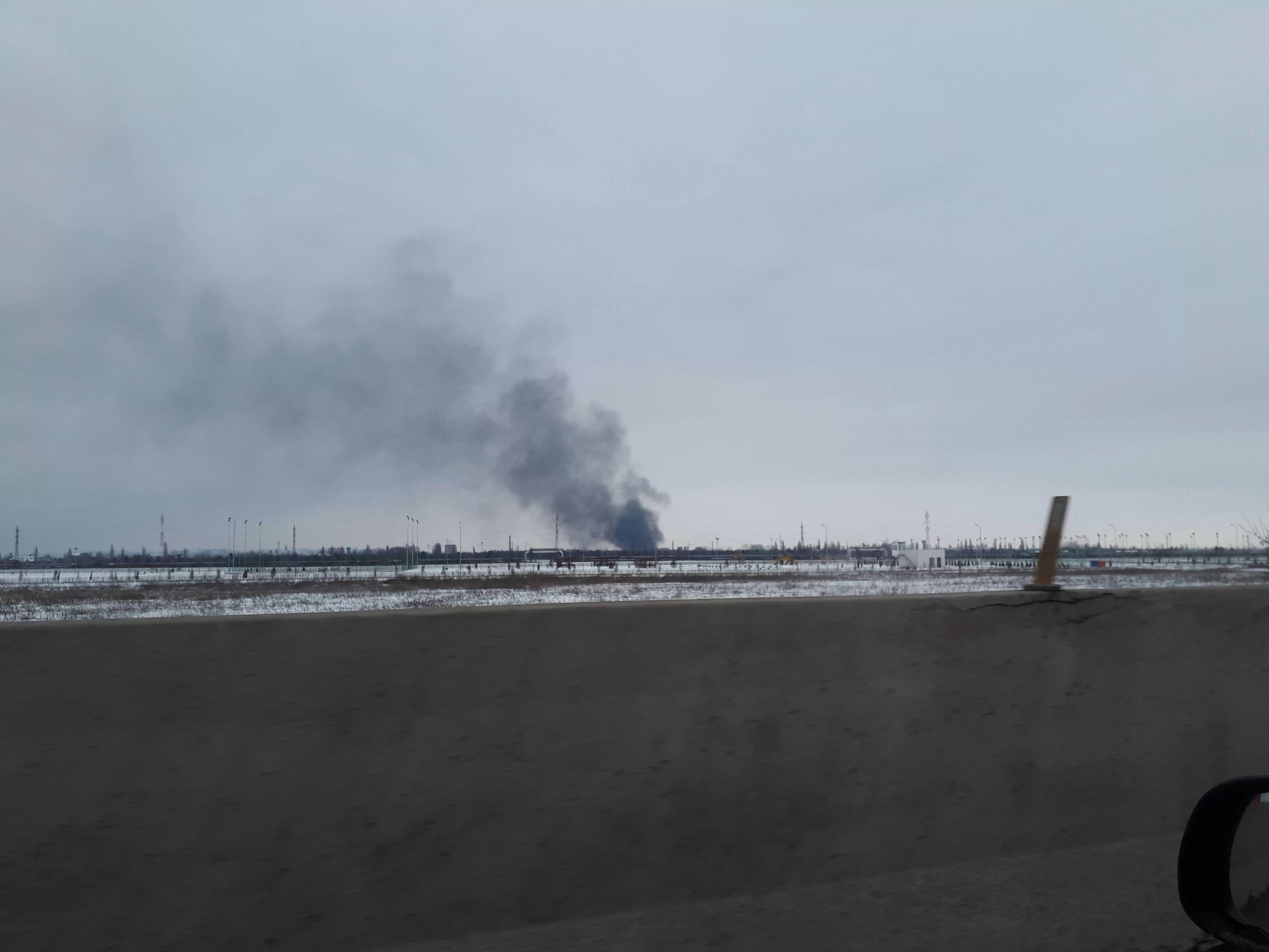 Incendiu la rafinaria Astra. Fumul s-a vazut de la kilometri distanță