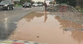 Comarnicul şi DN1, inundate