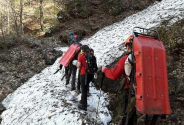 Două acţiuni ale salvamontiştilor în munţii Bucegi. Update