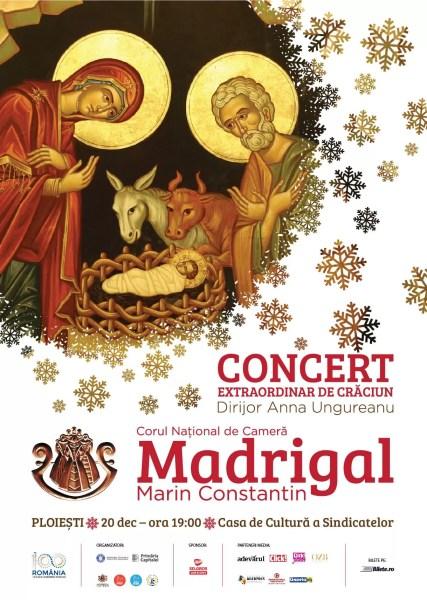 Corul Madrigal, în concert de Crăciun la Ploieşti