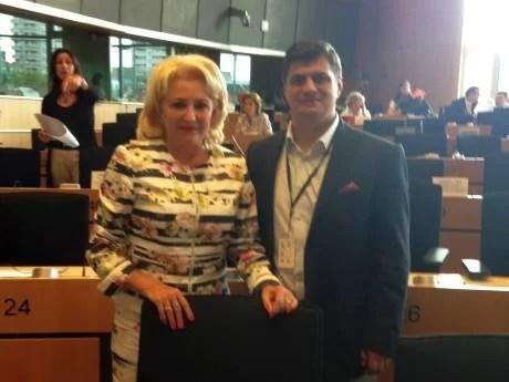 Premierul Viorica Dăncilă atac la prahoveanul Rebega chiar la tribuna Parlamentului European