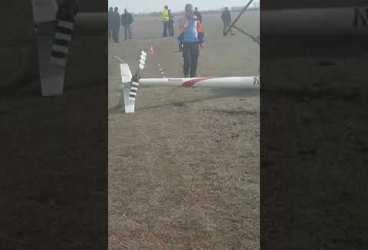 Elicopter prăbușit la aterizare, la Strejnic