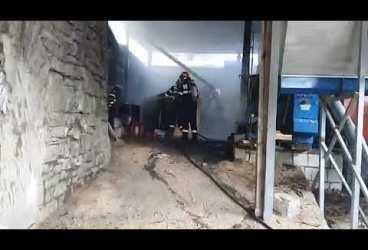Incendiu la o fabrică din Prahova