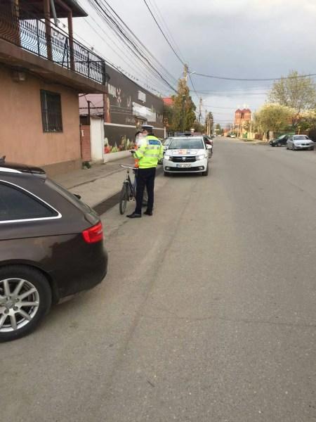 Record de alcool consumat de un biciclist prins în trafic, la Strejnic