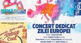 Filarmonica: muzică de film, jazz şi Ziua Europei