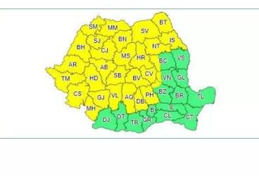 Cod galben de furtună pentru întreg judeţul Prahova