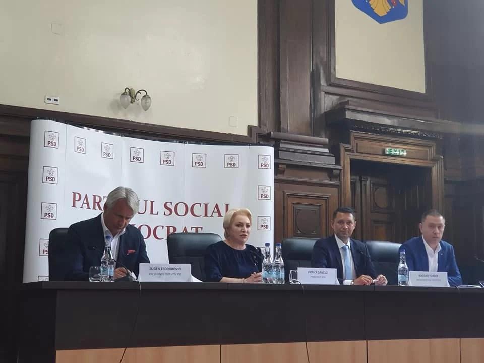 """Viorica Dăncilă, superoptimistă la CEx PSD Prahova: """"Am stabilit drumul pentru câştigarea alegerilor prezidenţiale!"""""""