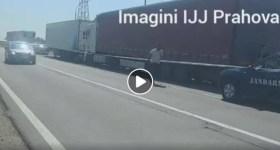 Jandarmii au capturat un tir cu 5 tone de produse petroliere fără acte de provenienţă (video)