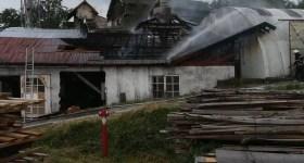 Incendiu la o fabrică de cherestea din Măneciu