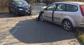 Accident cu şoferi tineri, la Crângul lui Bot