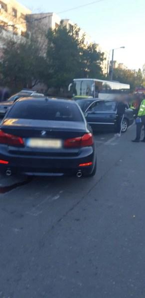 Urmărit de poliţie a produs un accident general pe Şoseaua Vestului