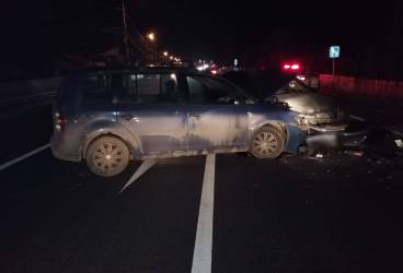 Accident grav la Comarnic a încurcat şi mai tare circulaţia pe DN1, la sfârşit de week-end